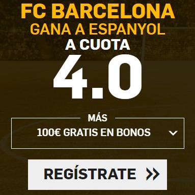 Supercuota Betfair Barcelona gana a Espanyol