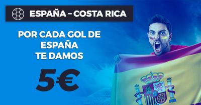 Paston España - Costa Rica, por cada gol de España 5€
