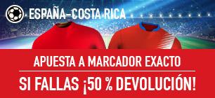 Sportium España Costa Rica 50% devolucion