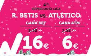 Supercuota Wanabet la Liga R. Betis - Atlético