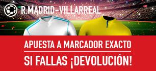 Sportium Real Madrid Villarreal si fallas devolución