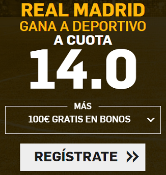 Supercuota Betfair la Liga Real Madrid - Deportivo
