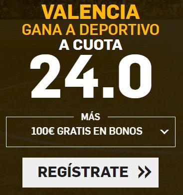 Supercuota Betfair la Liga Valencia - Deportivo