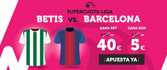 Supercuota Wanabet la liga Betis - Barcelona