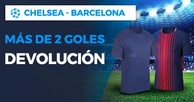 Paston Chelsea - Barcelona más de 2 goles devolución