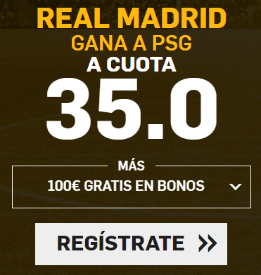 Supercuota Betfair Real Madrid - PSG