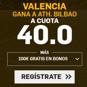 Supercuota Betfair la Liga Valencia - Ath. bilbao