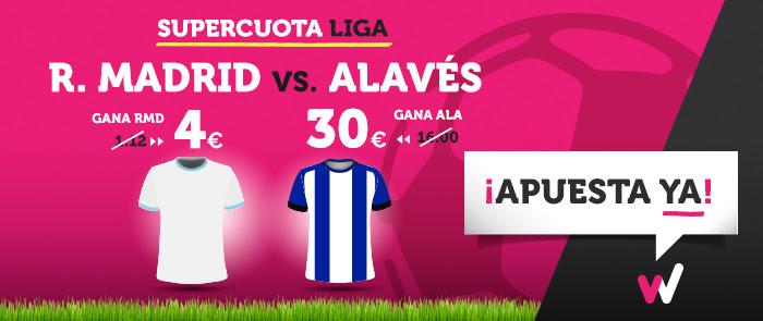 Supercuota Wanabet la Liga R. Madrid - Alavés
