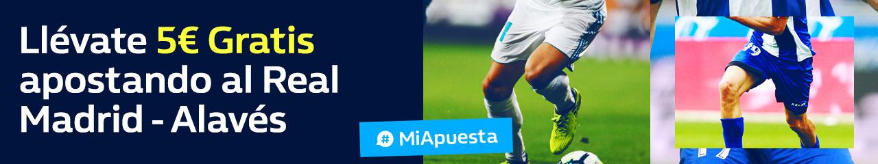 Williamhill 5€ gratis apostando al Real - Madrid Alavés