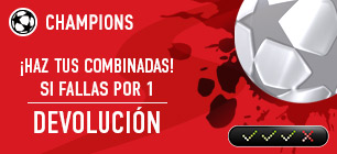 Sportium Champions Combinadas si fallas por 1 devolucion
