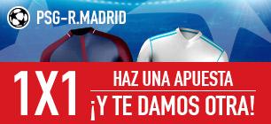 Sportium PSG - R. Madrid 1x1 haz una apuesta y te damos otra
