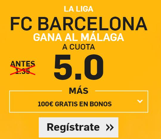 Supercuota Betfair Barcelona - Málaga