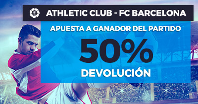 Paston la liga Athletic - fc barcelona 50% devolución