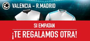Sportium Valencia - R. Madrid si empatan te regalamos otra!