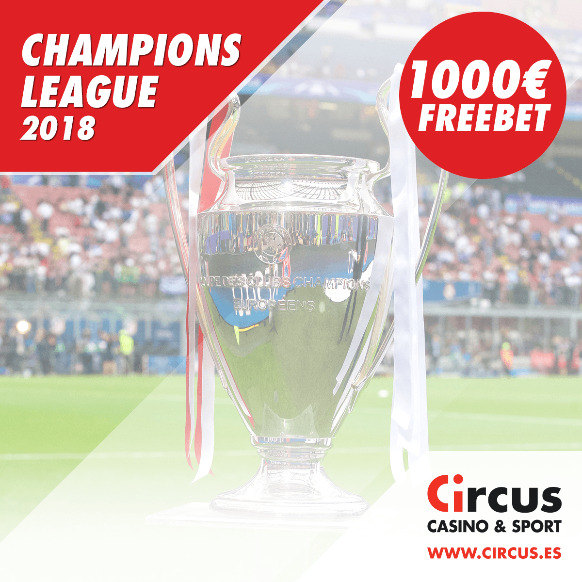 Circus champions league 1000€ freebet