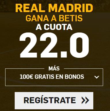Supercuota Betfair la Liga Real Madrid betis
