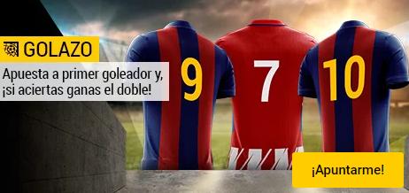 Bwin la Liga Barcelona - Atleti apuesta a primer goleador, si aciertas gana el doble