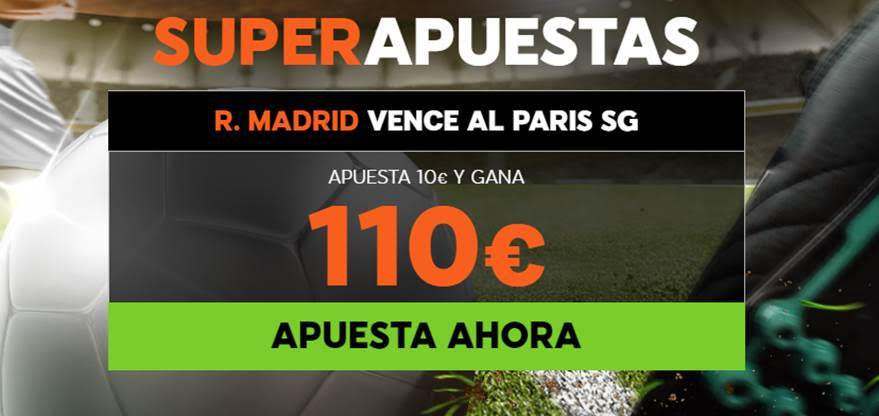 Supercuota 888sport Champions League PSG - Real Madrid
