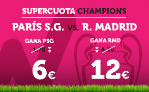 Supercuota Wanabet Champions Paris SG vs R. Madrid
