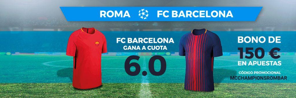 Bonos de Apuestas Supercuota Paston Champions Roma - FC Barcelona