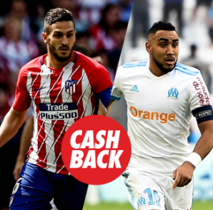 bonos de apuestas Circus Europa League Marseille vs Atlético devolución hasta 15€