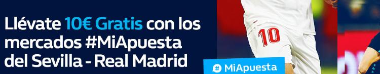 William Hill la Liga Sevilla - Real Madrid 10€ gratis