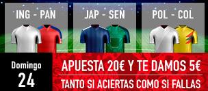 bonos de apuestas Sportium Mundial Domingo 24 Apuesta 20€ y te damos 5€