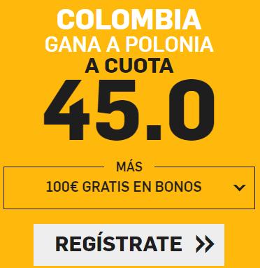bonos de apuestas Supercuota Betfair Colombia - Polonia