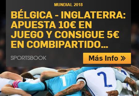 bonos de apuestas Betfair Mundial Rusia Bélgica- Inglaterra apuesta 10€ y consigue 5€