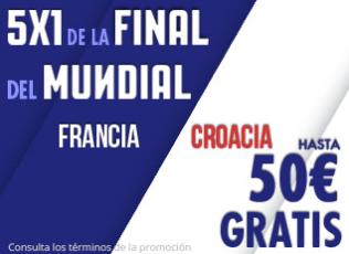 bonos de apuestas Suertia Final Mundial 5x1 Francia Croacia